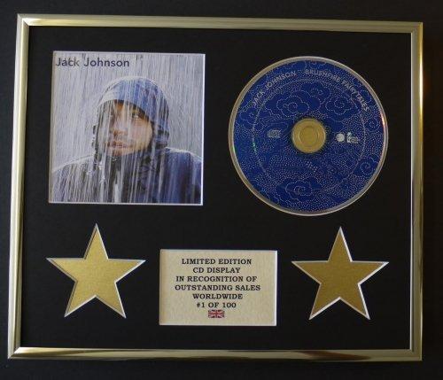 JACK JOHNSON/CD Display/Limitata Edizione/Certificato di autenticità /BRUSHFIRE FAIRYTALES Everythingcollectible IF-HFOL-BVCO