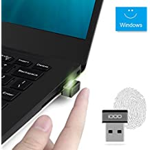 Mini USB Fingerprint Reader for Windows 7/8/10 Hello, iDOO Bio-metric Fingerprint Scanner PC Dongle for Password-Free and File Encryption, 360° Touch Speedy Matching Security Key