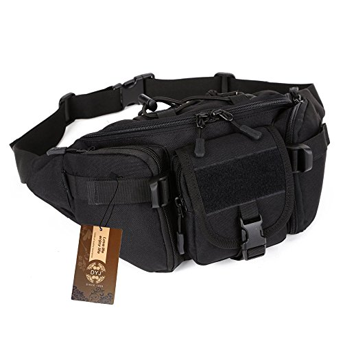 DYJ Utility Multipurpose Molle Tactical Waist Bag Hip Pack Military Fanny Pack Compact Waterproof Hip Belt Bag Pouch Hiking Climbing Outdoor Bumbag - Utility Pouch Pack Waist