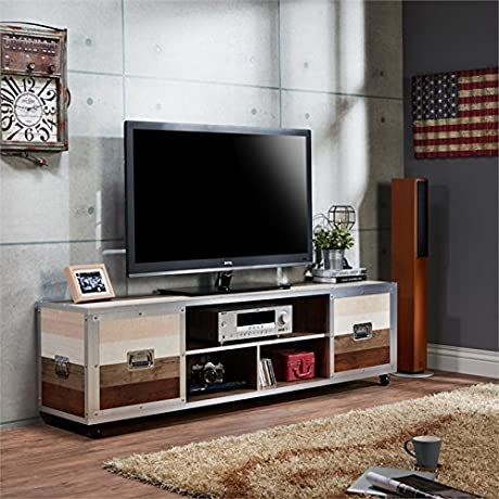 Furniture Of America Micah 70 TV Stand In Multi Color