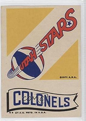 Utah Stars, Kentucky Colonels (Basketball Card) 1973-74 Topps - Team Stickers #UTST