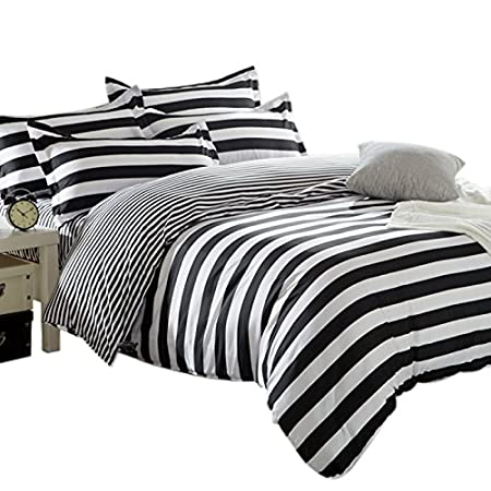 douvet Black striped and cover white