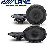 Alpine 6.5 Inch 300W 2-Way Car Speakers 6''X9'' 300W Loud Type R Coaxial 2-Way Silk Tweeters Car Speakers