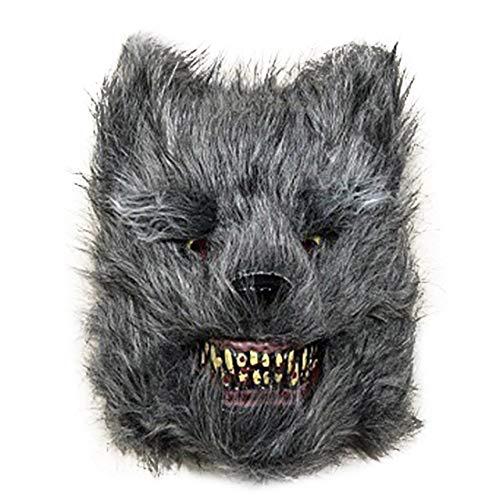 PKRISD Bloody Horror Cartoon Animal Mask Halloween Party Bloody Cosplay Plush Mask LAD-Sale