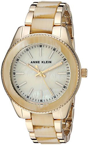 - Anne Klein Women's  Gold-Tone and Horn Resin Bracelet Watch