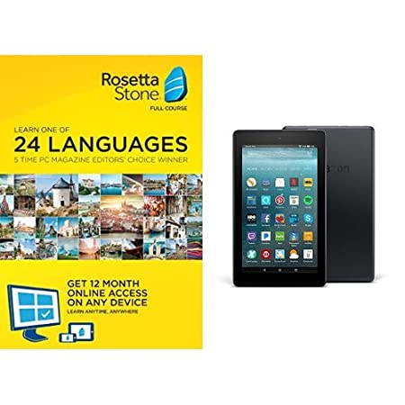 Rosetta Stone 24 Month Online Subscription with Fire 7 Tablet