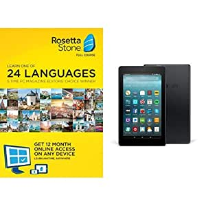 Rosetta Stone 12 Month Online Subscription with Fire 7 Tablet