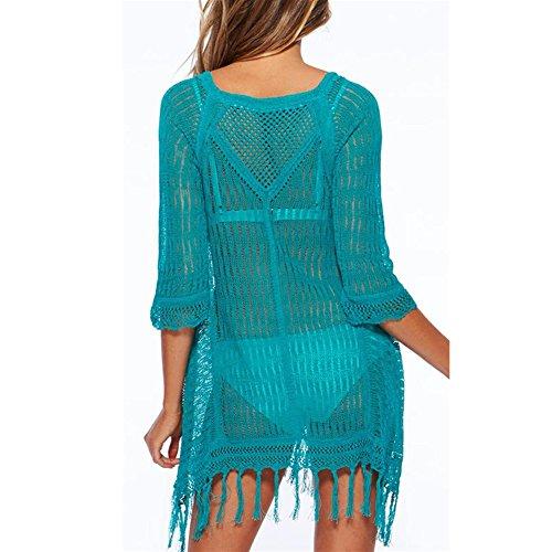 Up Copricostumi Blusa Bagno Peach Donna Parei L Bikini Taglia per Spiaggia Costume Verde Camicia Cover per da Unica pf6qCxwS