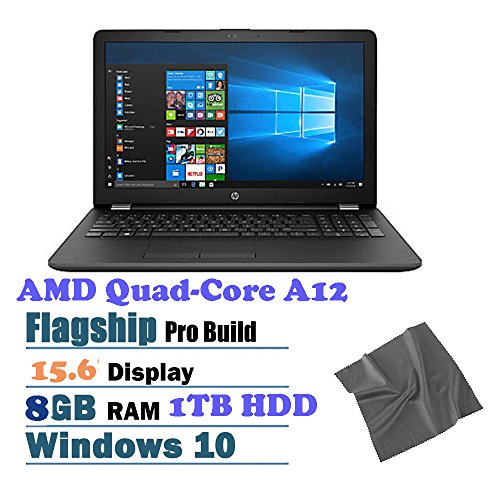 New Flagship HP 15.6-Inch HD Business Performance Laptop ,AMD Quad-Core A12-9720P Processor,8GB RAM,1TB HDD 5400 rpm,DVD Writer, Wifi,Screen cleaning clothing,Windows 10