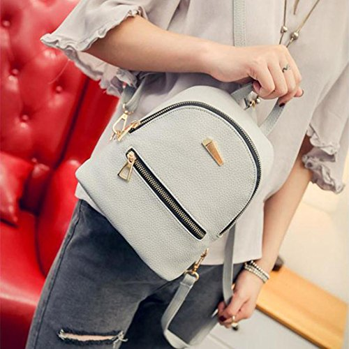 Daypack Casual BCDshop Gray Ladies Rucksack Small Girls Women Backpacks Lightweight TIxw8zxEq
