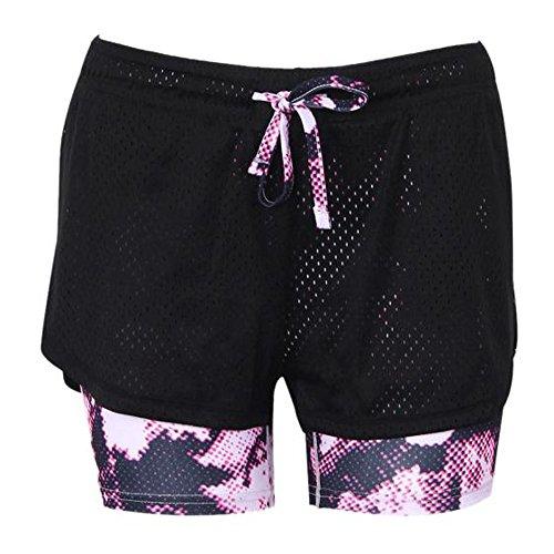 Fami Femmes Sport Gym Yoga Piercing Pantalons courts de yoga Cropped Maillot de bain