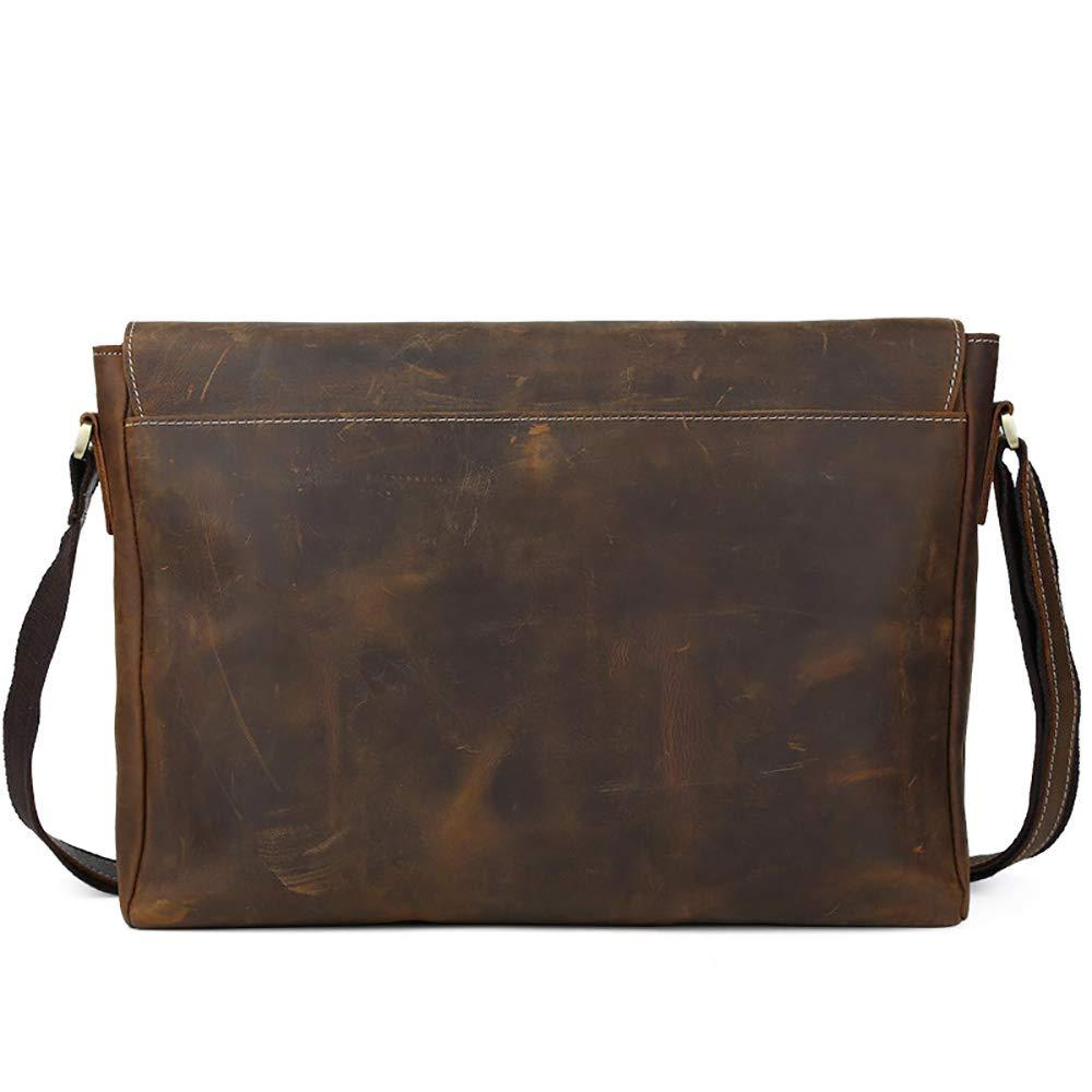 Dark Brown 29 40 7.5cm Business Briefcase LBYMYB Retro Classic Diagonal Cross Bag Mens Briefcase 15.6-inch Computer Shoulder Bag