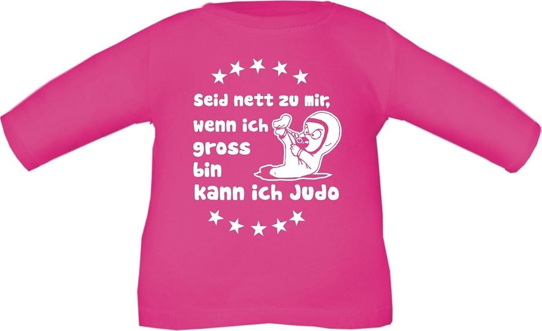 Baby / Kinder T-Shirt langarm Seid nett zu mir wenn ich groß bin kann ich  Judo / Größe 60 - 152 in 6 Farben: Amazon.de: Bekleidung