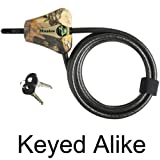 Master Lock Cable Lock, Python Adjustable Keyed Cable Lock, 6 ft. Long, Camouflage, 8418DCAMO