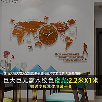Amazon y hui in the table silent quartz clock world map clocks y hui in the table silent quartz clock world map clocks living room wall clock gumiabroncs Choice Image