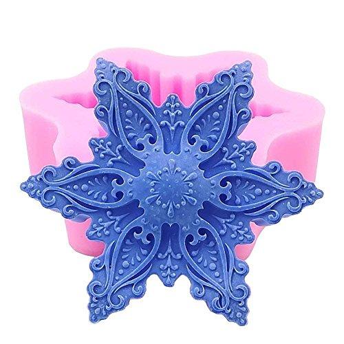 - Snowflake Shape Silicone Cake Mold, 3D DIY Handmade Soap Molds, Craft Art Soap Candle Making Mould, Cake Fondant Decorating Mold, Art Soap Clay Molds, Cake Chocolate Sugarcraft Baking Tool