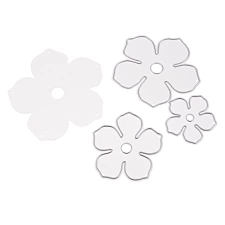 GGG 4Pcs Corte del Molde de la Flor de la válvula del Acero de carbón Muere para el Libro de Recuerdos Tarjeta de Papel del álbum de la Plantilla de DIY: ...
