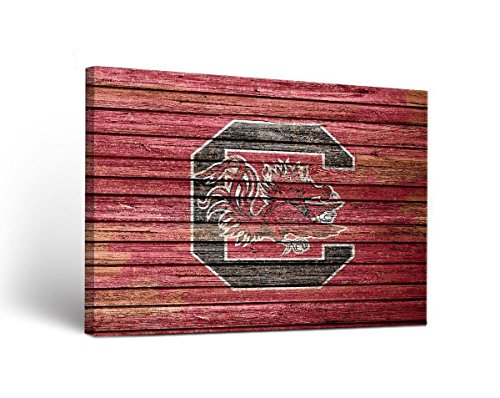 (Victory Tailgate South Carolina Gamecocks Canvas Wall Art Weathered Design)