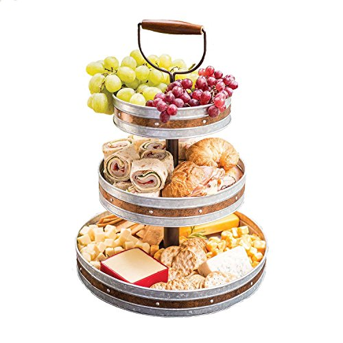Tiered Serving Stand 3 Tier Tray With Handle Party Trays and