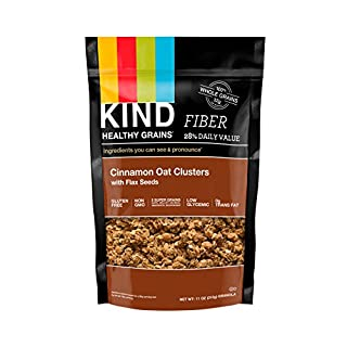 KIND Healthy Grains Clusters, Cinnamon Oat Clusters with Flax Seeds Granola, Gluten Free, Non GMO, 11 Ounce Bag