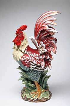 Appletree Design A Day in the Country Rooster Figurine, 23-1 2-Inch Tall