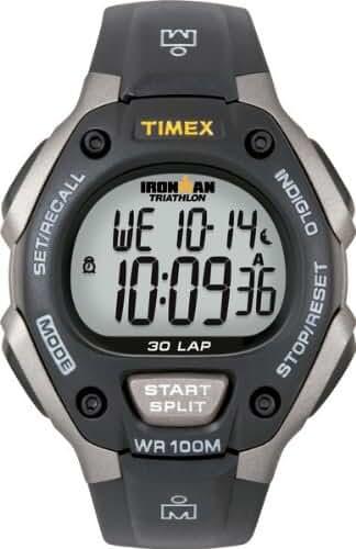 Timex Men's T5E901 Ironman Classic 30 Full-Size Black/Gray Resin Strap Watch
