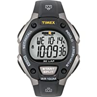 Men's T5E901 Ironman Classic 30 Full-Size Black/Gray Resin Strap Watch