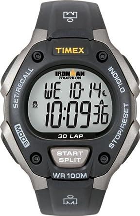 amazon com timex men s t5e901 ironman classic 30 gray black resin rh amazon com Timex Expedition manual relogio timex ironman triathlon gps