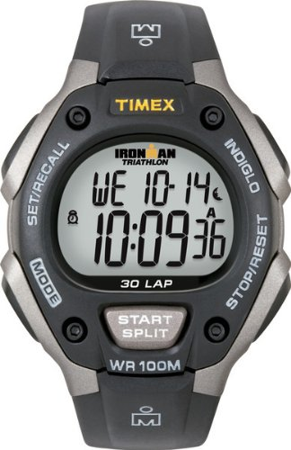 Timex Men's T5E901 Ironman Classic 30 Gray/Black Resin Strap (Performance Digital Sport Watch)