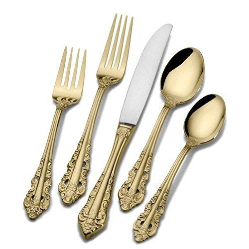 Baroque Sugar Spoon (Wallace Antique Baroque Gold-Plated 65-Piece Flatware Set)