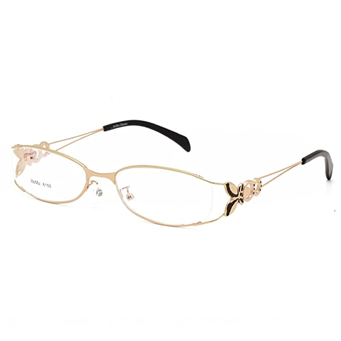 b5359531b8b Amazon.com  Langford Fashion Fadeless Eyeglass Frames For Women 52mm ...