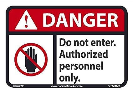 Amazon.com: NMC DGA77P Danger - No introduzcas solo el ...