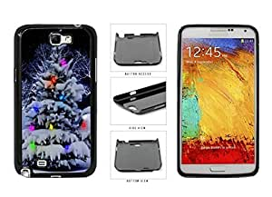 Colorful Winter Christmas Tree Plastic Phone Case Back Cover Samsung Galaxy Note II 2 N7100