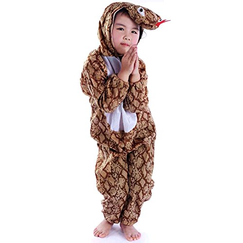 [Mlotus Halloween Animal Python Kids Pajamas Homewear Onesie Cosplay Costumes] (Python Costume)