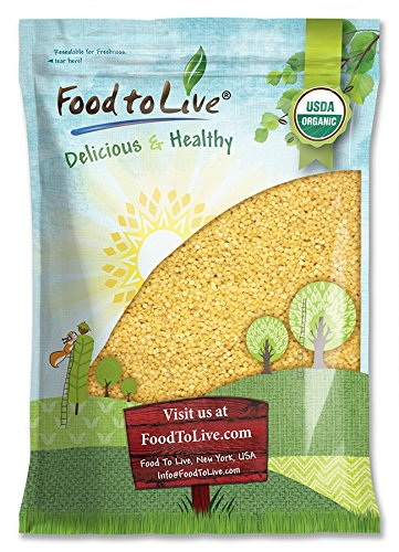 Organic Whole Wheat Couscous by Food to Live (Non-GMO, Kosher, Bulk) (5 Pounds)