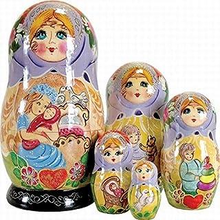 """G. Debrekht Mother Love Nested Doll, 6"""""""
