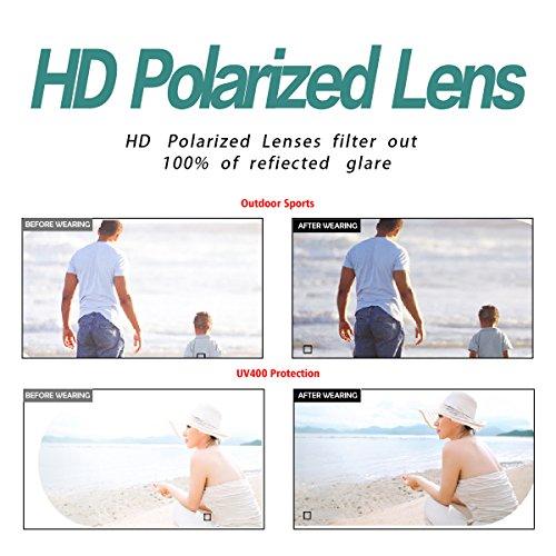Hommes Femmes UV Soleil Silver Black BLEVET Lunettes de Classique Protection Polarisées Bright Lens BE002 Txw5FA5q