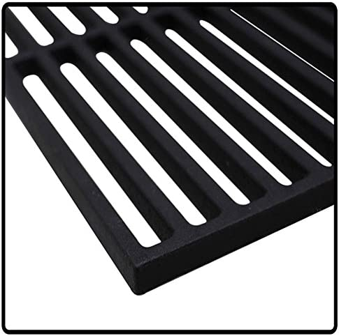 SAILUN 45cm x 35cm Cast Iron Cooking Grids Grill Grates Barbecue Grill Rack Solid Cast Iron Grill Grate for BBQ Roast Steaks Fish Vegetable Shrimp Seafood