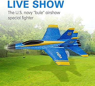 MSLAN RC Plane,2.4GHz 2CH DIY EPP Outdoor RTF Ready to Fly Remote Control Gliding Aircraft Model with 2 Extra Batteries(3 Batteries)