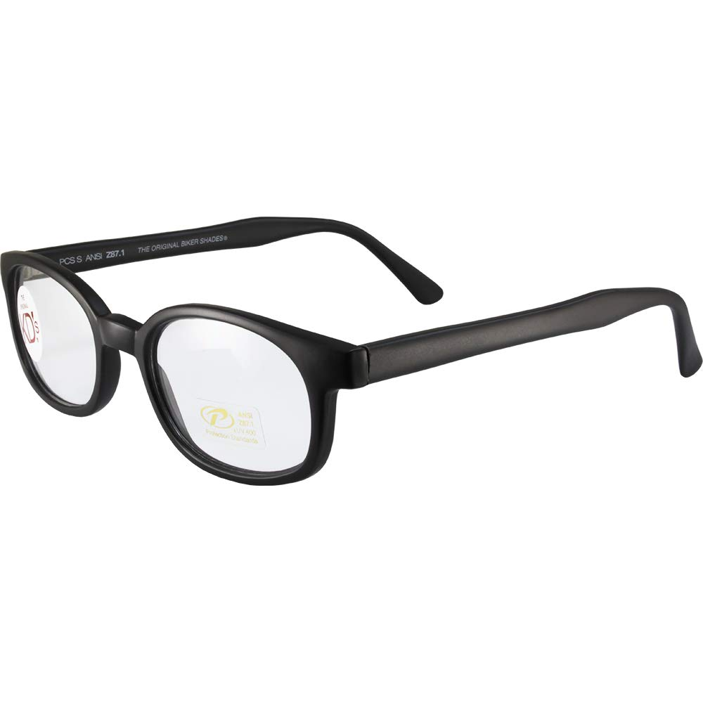 X-KDs Unisex-Adult Biker sunglasses Matte Black//Clear Lens