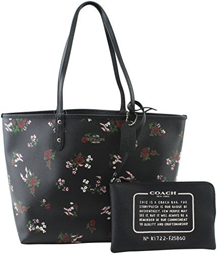 COACH REVERSIBLE CITY TOTE (Black Multi Floral)
