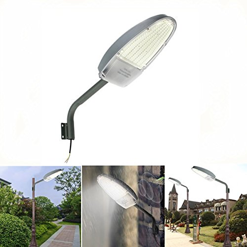 DADEQISH 30W Light Control LED Road Street Light per esterni da giardino Spot Security AC85-265V Illuminazione esterna (Colore   bianca)