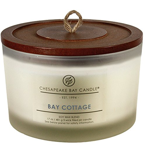 (Chesapeake Bay Candle 3-Wick Scented Candle, Bay Cottage (Linen White Amber), Coffee Table)