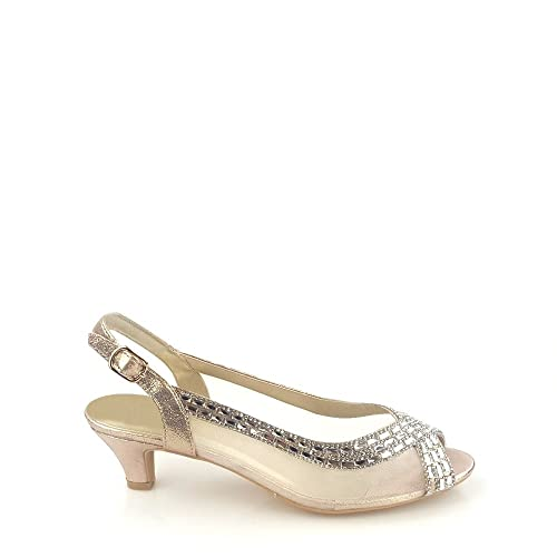 93118a75ca Miss Diva Kirsty Open Toe Mesh Diamante Shoe: Amazon.co.uk: Shoes & Bags