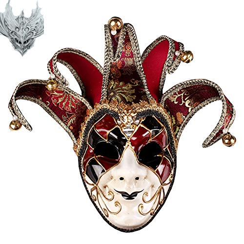 Super Bump Masquerade Mask Jester Venetian Resin Music Mardi Gras Wall Easter Decoration Gift -