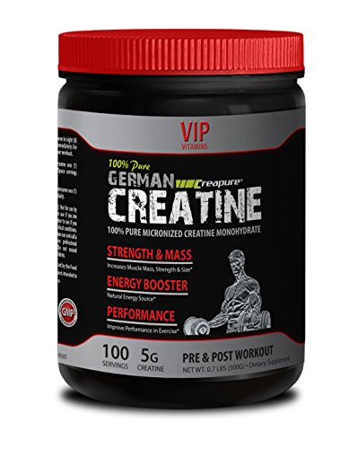 Lean muscle builder - PURE GERMAN CREATINE POWDER - MICRONIZED CREATINE MONOHYDRATE CREAPURE 500G 100 SERVINGS - Creatine monohydrate