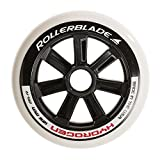Rollerblade Hydrogen 125mm 85A Wheels. 6 Pack, White, One Size