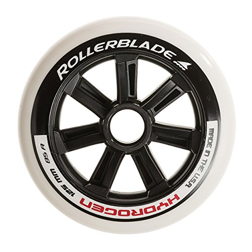- Rollerblade Hydrogen 125mm 85A Wheels. 6 Pack, White, One Size