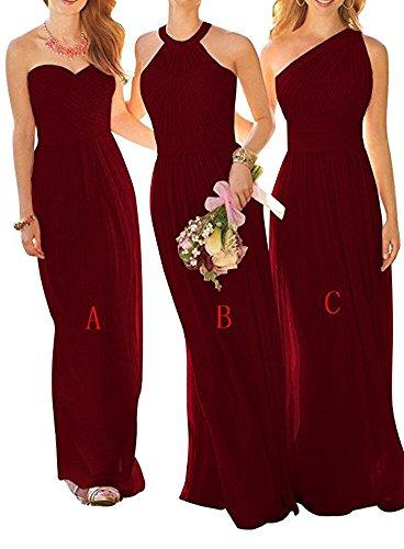 Damen Burgundy Linie Beauty the of A Kleid C Leader 0qTtBwn