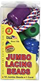 Pepperell Braiding HZ1016 Jumbo Lacing Beads Classic Made in USA Wood Toy, 3.6